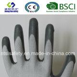 interpréteur de commandes interactif du polyester 13G avec les gants de travail enduits par nitriles (SL-N101)