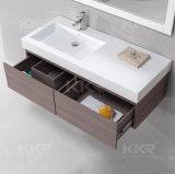 白い固体表面の浴室用キャビネット手洗面器(170908)