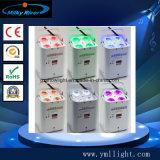 Smart DJ Luz PAR 6 Rgbaw Hex+UV LED Wireless de lavado de la etapa de Luz Blanco&Negro