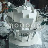 [إيوروبن] صيغة 100% نسخة ألومنيوم صنوبر مخروط [ف] خرشف [بندنت لمب] مع أبيض و [كبّر كلور]