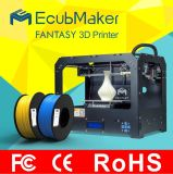 Ecubmaker Cura 또는 판매를 위한 Simplify3d 소프트웨어 3D 인쇄 기계