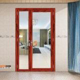 Fabrik-direkter Preis-hölzerne anodisierte Aluminiumglasflügelfenster-Schwingen-Tür Guangzhou-Zhengyi für Großverkauf