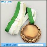 ダイカストの旧式な銀メダルのカスタム金属メダル記念品を