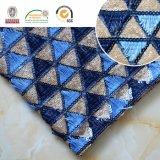 Trangleの暗い及び淡いブルーのパターン刺繍のレースファブリック、熱い販売法C10042