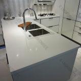 Countertop кухни камня кварца белизны 3cm утверждения Ce чисто (170905)