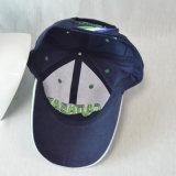 gorra de béisbol de la tela cruzada del algodón de la marina del bordado 3D