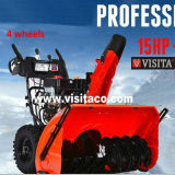 lanciatore di neve professionale della benzina di larghezza di 15HP 100cm