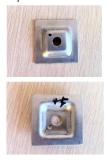 Утопленные квадратом струбцины /Grating шайбы Clips& круглые