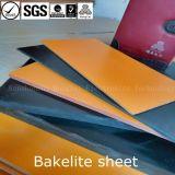 Color negro de la hoja de la baquelita de Pertinax/naranja-rojo material de papel fenólico