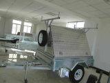 Remorque de dessus de marchand de l'aluminium 8 x 5