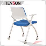 La moderna oficina plegable Executive Meeting visitante y la formación de tejido plástico silla