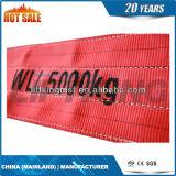 colore rosso dell'imbracatura piana della tessitura del poliestere 5t (imbracatura di sollevamento)