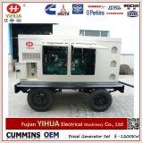 Generador diesel silencioso portable móvil del acoplado 150kVA/120kw Cummins