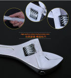플라스틱 손잡이를 가진 위조된 조정가능한 렌치