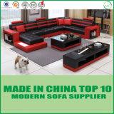 Europäisches Art-Wohnzimmer-Leder-Sofa-Bett