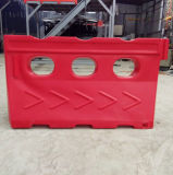 赤い回転プラスチック水によって満たされる障壁の道路交通の安全バリア