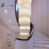 candelabro de cristal decorativo do projeto moderno para a escadaria