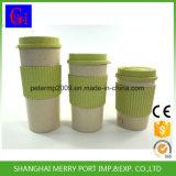 뚜껑 백색 섬유 커피 잔을%s 가진 뚜껑 또는 밀 섬유 찻잔을%s 가진 밀 섬유 컵