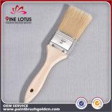 Qualité matériau blanc de PBT et d'animal familier avec le pinceau en bois environnemental de traitement