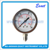 Manomètre à pression hydraulique - Calibre de pression rempli de liquide - Indicateur de pression d'huile