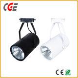 Feux de piste à LED Spot LED puce crie de couleur noire des feux de 30W Ra>90 COB par voie de lumière LED28/PAR30 Lampes à LED
