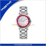 Kundenspezifisches Firmenzeichen-Uhr-Cer RoHS populäre Münzen-Dame-Uhren