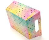 Rectángulo de almacenaje de papel colorido con la maneta