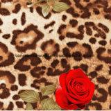 100%Polyester Rosa e la stampa Pigment&Disperse del leopardo hanno stampato il tessuto per l'insieme dell'assestamento