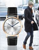 Edelstahlwasserdichter Wristband-Form-Quarz-UhrMens Wristwatch72527