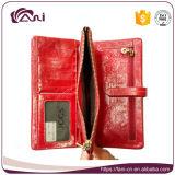 De Met de hand gemaakte Portefeuille van uitstekende kwaliteit van Dames met het Materiaal van het Leer van de Was