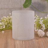 Casacos de vela de vidro revestidos verticais de vidro branco com areia e areia