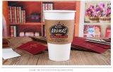 Zoll gedrucktes Wegwerfc$eco-freund gewölbter Kaffee-Papiercup