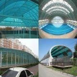 屋根ふきおよび温室のためのポリカーボネートの固体シート