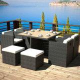A mobília do pátio com jardim Restaurante Conjunto de mesas e cadeiras de vime Cadeira de Jantar Conjunto de mesa