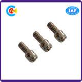 Parafusos transversais principais cilíndricos do selo do aço inoxidável para o instrumento/aviação/costumes