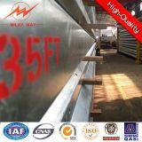 35FT 3mm Stärke galvanisierter elektrischer Dienstpole
