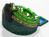 Diapositiva de agua inflable del orangután original del diseño con la pequeña piscina