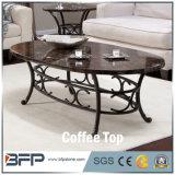 Parte superiore quadrata di marmo di pietra quadrata irregolare nera del tavolino da salotto per il pranzo