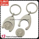 공장 가격 주문 금속 동전 홀더 Keychains