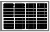 mono painel 40W-50W solar para a luz do diodo emissor de luz