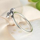 Maak in de juwelen van China in de Grote Goedkope Bloem CZ 925 van de Voorraad Zilveren Ring