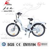 """26 """" CE électrique blanc d'aluminium de vélo du bâti 36V d'alliage (JSL038XB-2)"""