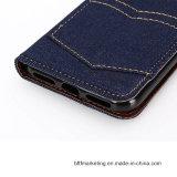 iPhone 8/8plus аргументы за сотового телефона бумажника холстины джинсыов классицистическое