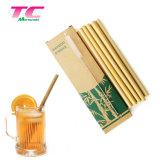 Custom Bambu pailles Bambou biologique écologique de boire ensemble avec un balai de paille