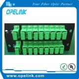 Divisor del PLC del rectángulo de la telecomunicación 2X16 Lgx de Gpon para Pon/FTTH/CATV