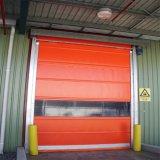 문 (HF-290)가 고강도 고속 문에 의하여 위로 구른다