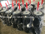 Aço Carbono Microfusão 2PC Válvula de Esfera de Flange com almofada de montagem