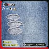 Tela hecha punto color del dril de algodón del añil para la ropa de los pantalones vaqueros