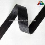 Cinturón de seguridad de nylon negro de 1 pulgada