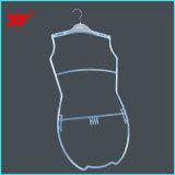 Affichage de fabrication de maillots de bain haut de la marque clairement corps personnalisé Mesdames cintres de maillots de bain
